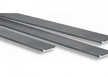 Barra chata de aluminio branco