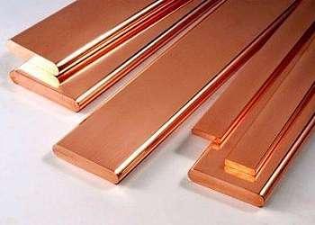 Barra chata de cobre eletrolítico