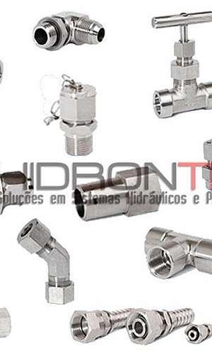 Conexões hidráulicas em aço inox