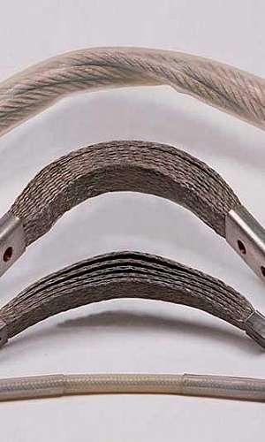 Cordoalha chata flexível de cobre