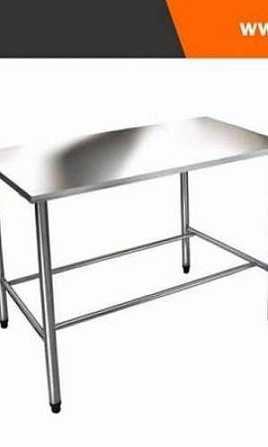 mesa em aço inox para cozinha
