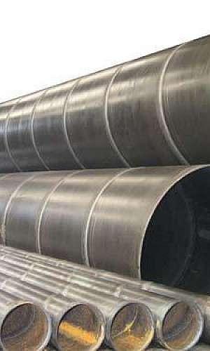 Tubo aço carbono com costura helicoidal