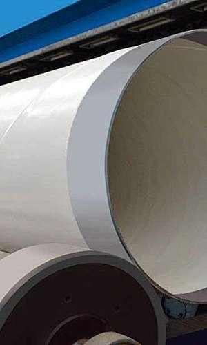 Tubo com costura helicoidal