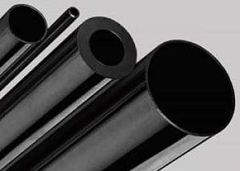Tubo de aço carbono preto com costura