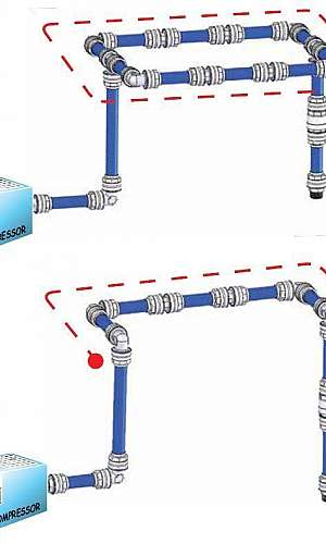 Tubulação para rede de ar comprimido