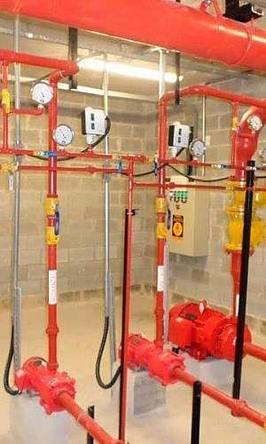 Tubulação para rede de incêndio