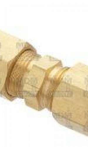 União tubo latão