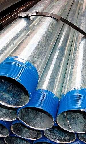 Venda de tubos galvanizados